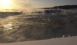 Horseshoe Falls in February Royalty Free Stock Images