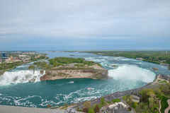 Horseshoe Falls at Niagara falls. Aerial view of the Horseshoe falls at Niagara falls Stock Photography
