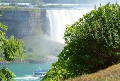 Horseshoe Falls, Niagara Falls, Canada. Partial view of the Horseshoe Falls in Niagara, Ontario. Taken July 13, 2016 Royalty Free Stock Photo