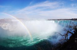 Horseshoe Falls of Niagara Falls panorama Stock Photos