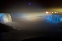 Horseshoe Falls, Niagara at night Stock Photos