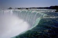 Horseshoe Falls-Niagara River. Photo of the famous horseshoe falls on the Niagara river as seen from the Canadian side Royalty Free Stock Photo
