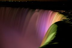 Horseshoe Falls at Night Royalty Free Stock Photos