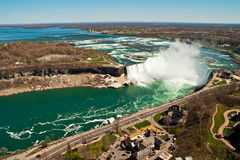 The Horseshoe Falls, part of Niagara Falls. The Horseshoe Falls, also known as the Canadian Falls, part of Niagara Falls on the Niagara River Stock Images