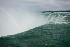 Horseshoe Falls with a rainbow, Niagara, Ontario royalty free stock photo
