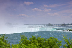 Horseshoe Falls and Rapids of Niagara River Stock Images