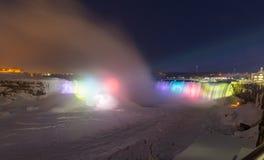 Horseshoe Falls in the Winter stock photos