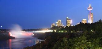 Horseshoe Falls at night, Niagara skyline Royalty Free Stock Image