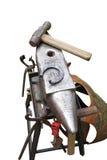 Horseshoe and hammer Stock Image