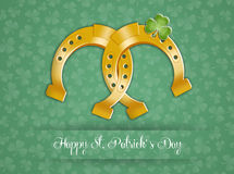 Horseshoe for Happy St. Patricks Day Royalty Free Stock Images