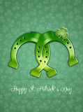 Horseshoe for Happy St. Patricks Day Stock Image