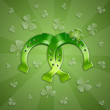 Horseshoe for Happy St. Patricks Day Royalty Free Stock Photography