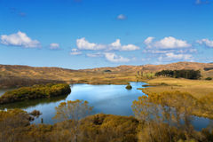 Horseshoe Lake, Hawkes Bay, New Zealand Royalty Free Stock Images