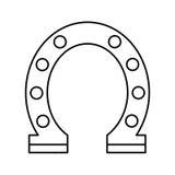 Horseshoe luck isolated icon. Illustration design Stock Images