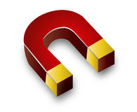 Horseshoe magnet Stock Image