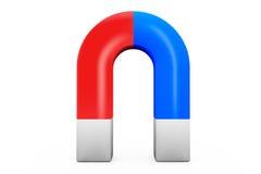 Horseshoe magnet. Closeup Horseshoe magnet on a white background Stock Photography