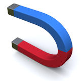 Horseshoe magnet 3d Stock Images