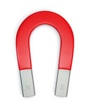 Horseshoe magnet isolated on white. Large horseshoe magnet isolated on white. Includes pro clipping path stock illustration