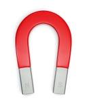 Horseshoe magnet isolated on white. Large horseshoe magnet isolated on white. Includes pro clipping path Stock Image