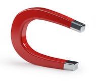 Free Horseshoe Magnet On White Royalty Free Stock Photography - 3213927