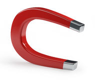Horseshoe Magnet on White Royalty Free Stock Photography