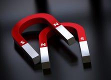 Horseshoe magnets Royalty Free Stock Images