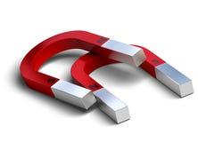 Horseshoe magnets over white Stock Image