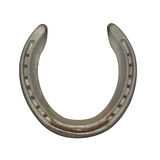 Horseshoe is the mascot of good fortune. Very convenient, Horse horseshoe prevent evil isolated on a white background. This has clipping path royalty free stock image