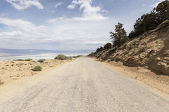 Horseshoe Meadow Road above Owens Dry lake Royalty Free Stock Image