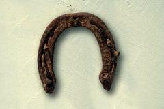 Horseshoe. Old rusty horseshoe for lucky Royalty Free Stock Image