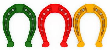 Horseshoe painted in Christmas colors Stock Image