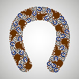 Horseshoe pattern color. Pattern horseshoes, colorful,  format Royalty Free Stock Images