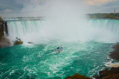 The horseshoe shape of the Niagara Falls, Ontario, Canada. The horseshoe shape of famous Niagara Falls, Ontario, Canada stock images