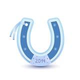 Horseshoe shaped card Stock Image