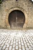 Horseshoe shaped door Royalty Free Stock Image