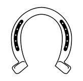 Horseshoe silhouette isolated icon Royalty Free Stock Photography