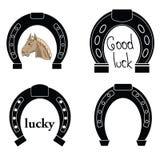 Horseshoe silhouettes Royalty Free Stock Image