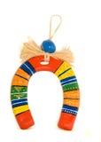 Horseshoe souvenir. Porcelain souvenir - decorated horseshoe - symbol of luck royalty free stock photography