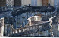 Horseshoe staircase of the chateau de Fontainebleau Royalty Free Stock Images