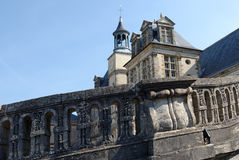 Horseshoe staircase of the chateau de Fontainebleau Royalty Free Stock Photography