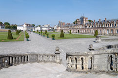 Horseshoe staircase of the chateau de Fontainebleau Royalty Free Stock Photo