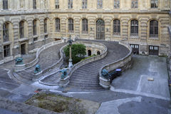 Horseshoe staircase at the Louvre Royalty Free Stock Photo