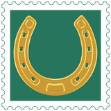 Horseshoe on stamp Stock Photo