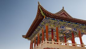 The Horseshoe Temple. Is located in the Sunan Yugu Autonomous County of Gansu, China. It is 65 kilometers away from the urban area of Zhangye City in the north stock photos