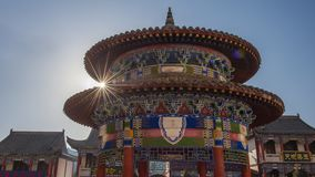 The Horseshoe Temple. Is located in the Sunan Yugu Autonomous County of Gansu, China. It is 65 kilometers away from the urban area of Zhangye City in the north royalty free stock images