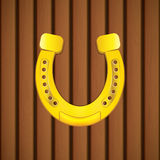 Horseshoe. On a wooden background.Vector Royalty Free Stock Images