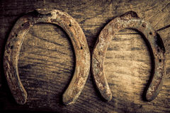 Horseshoes background Royalty Free Stock Photos