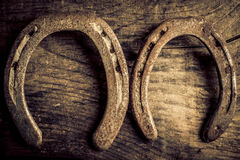Horseshoes background Royalty Free Stock Images