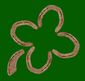 Horseshoes forming a clover leaf Stock Images