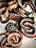 Horseshoes. And metal Royalty Free Stock Image